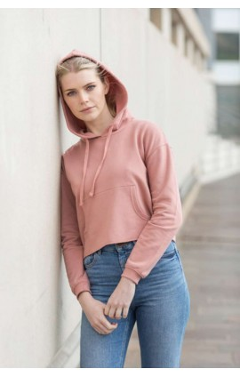 AWJH016 WOMEN'S CROPPED HOODIE
