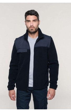 WK9105 FLEECE JACKET WITH REMOVABLE SLEEVES