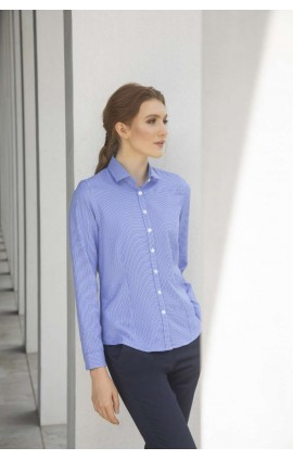 HN581 LADIES' GINGHAM L/S SHIRT
