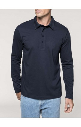 KA205 MEN'S LONG SLEEVE JERSEY POLO SHIRT