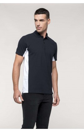KA232 FLAG - SHORT-SLEEVED TWO-TONE POLO SHIRT