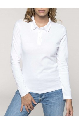 KA247 LADIES' LONG-SLEEVED JERSEY POLO SHIRT