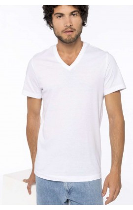 KA370 MEN'S SHORT-SLEEVED V-NECK T-SHIRT