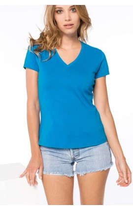 KA390 LADIES' SHORT-SLEEVED V-NECK T-SHIRT