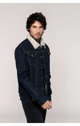 KA6138 MEN'S SHERPA-LINED DENIM JACKET