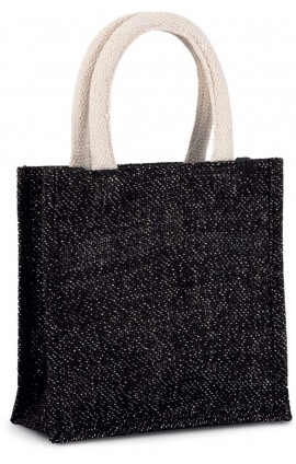 KI0272 JUTE CANVAS TOTE - SMALL