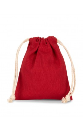 KI0748 COTTON BAG WITH DRAWCORD CLOSURE - SMALL SIZE