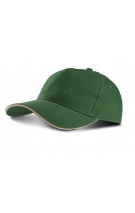 KP124 SANDWICH PEAK CAP - 5 PANELS