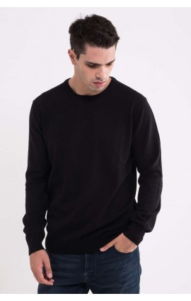 LW9188 MEN'S CREW NECK FINE GAUGE COTTON PULLOVER