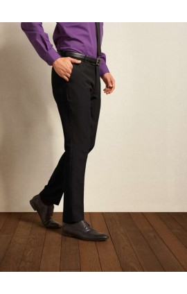 PR528 MEN'S SLIM FIT POLYESTER TROUSERS