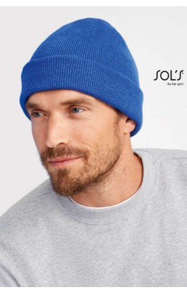SO01664 PITTSBURGH - SOLID-COLOUR BEANIE WITH CUFFED DESIGN
