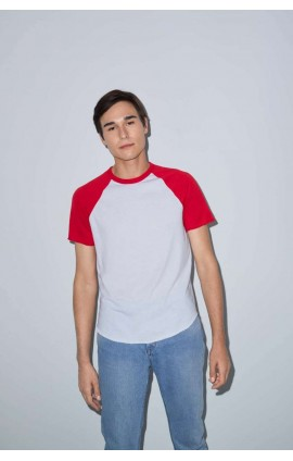 AARSABB4237 UNISEX POLY-COTTON SHORT SLEEVE RAGLAN T-SHIRT