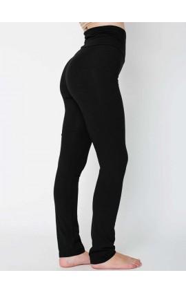 AA8375 WOMEN'S COTTON SPANDEX JERSEY STRAIGHT LEG YOGA PANT