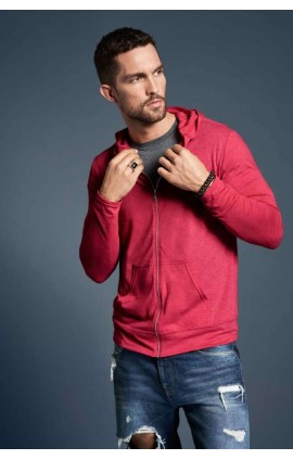 AN6759 ADULT TRI-BLEND FULL-ZIP HOODED JACKET