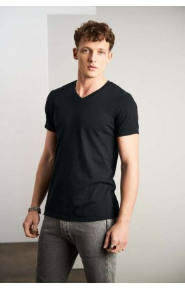 AN982 ADULT FASHION BASIC V-NECK TEE