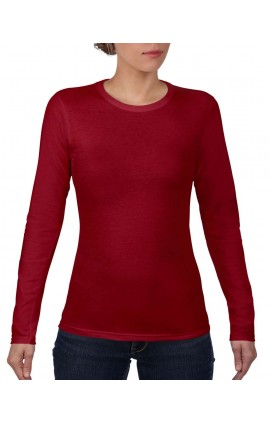 ANL374 WOMEN'S FASHION BASIC FITTED LONG SLEEVE TEE