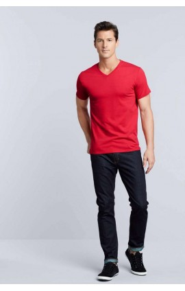 GI41V00 PREMIUM COTTON® ADULT V-NECK T-SHIRT