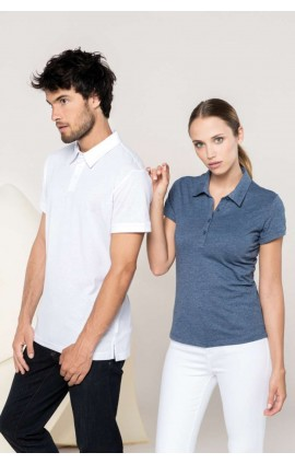 KA207 SHORT SLEEVE MELANGE POLO SHIRT