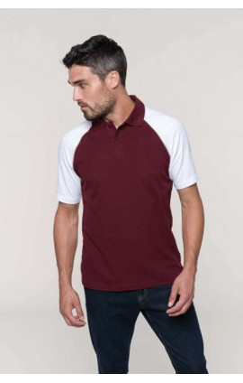 KA226 POLO BASE BALL - CONTRAST POLO SHIRT