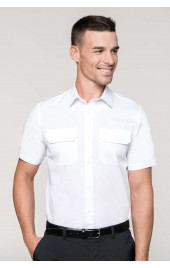 KA503 MEN'S SHORT SLEEVE PILOT SHIRT
