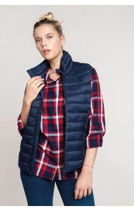 KA6114 LADIES' LIGHTWEIGHT SLEEVELESS DOWN JACKET