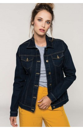 KA6137 LADIES' UNLINED DENIM JACKET