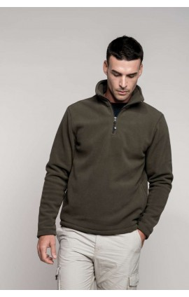 KA912 ENZO - ZIP NECK MICRO FLEECE TOP