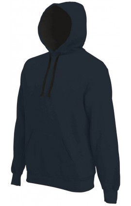 KA446 CONTRAST HOODED SWEATSHIRT