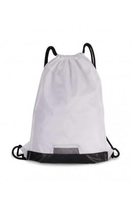 KI0163 DRAWSTRING BAG WITH ZIPPED POCKET