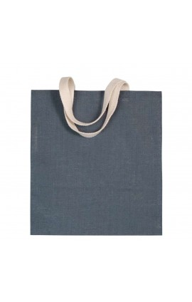 KI0256 JUTE CANVAS SHOPPING BAG