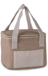 KI0352 JUTE COOL BAG - SMALL SIZE