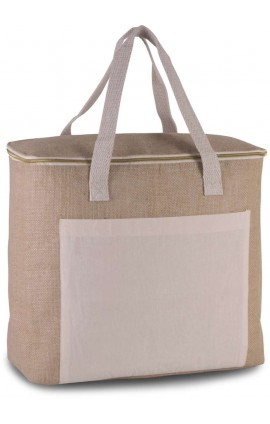 KI0354 JUTE COOL BAG - LARGE SIZE