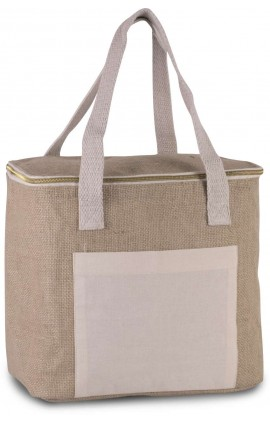 KI0353 JUTE COOL BAG - MEDIUM SIZE