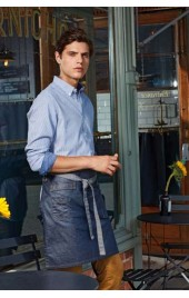 "PR135 ""DIVISION"" WAXED LOOK DENIM WAIST APRON"