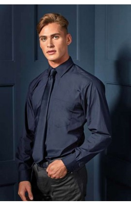 PR200 MEN'S LONG SLEEVE POPLIN SHIRT