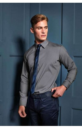 PR204 MEN'S LONG SLEEVE FITTED POPLIN SHIRT
