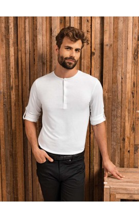 PR218 MEN'S LONG JOHN ROLL SLEEVE TEE