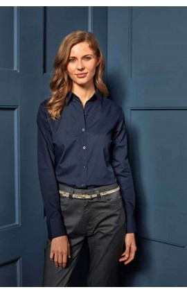 PR300 LADIES' LONG SLEEVE POPLIN BLOUSE