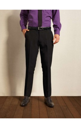 PR528L MEN'S SLIM FIT POLYESTER LONG LEG TROUSERS