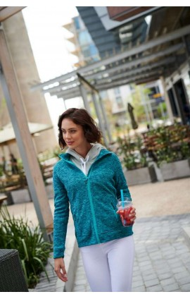 RETRF604 THORNLY WOMEN - FULL ZIP MARL FLEECE