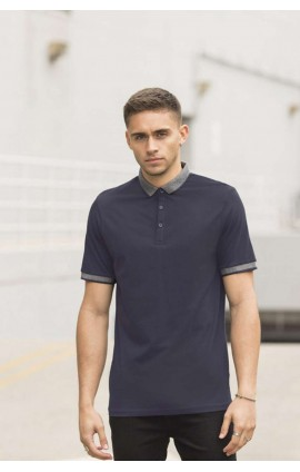SF441 MEN'S JACQUARD COLLAR POLO
