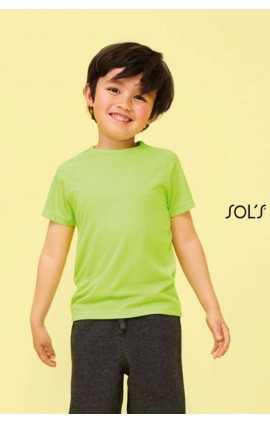SO01166 SOL'S SPORTY KIDS RAGLAN-SLEEVED T-SHIRT