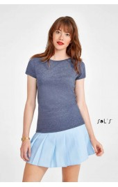 SO01181 MIXED WOMEN ROUND COLLAR T-SHIRT